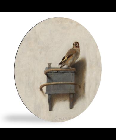 Het puttertje - Schilderij van Carel Fabritius wandcirkel