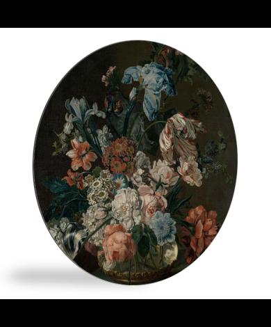 Stilleven met bloemen - Schilderij van Cornelia van der Mijn wandcirkel