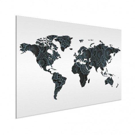 Aziatische print zwart-blauw aluminium