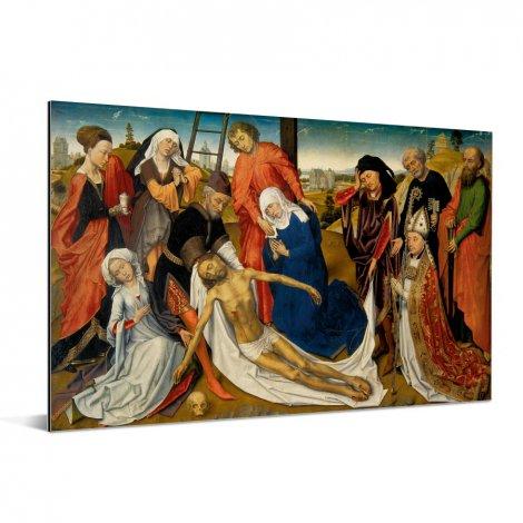 De bewening van Christus - Schilderij van Rogier van der Weyden Aluminium