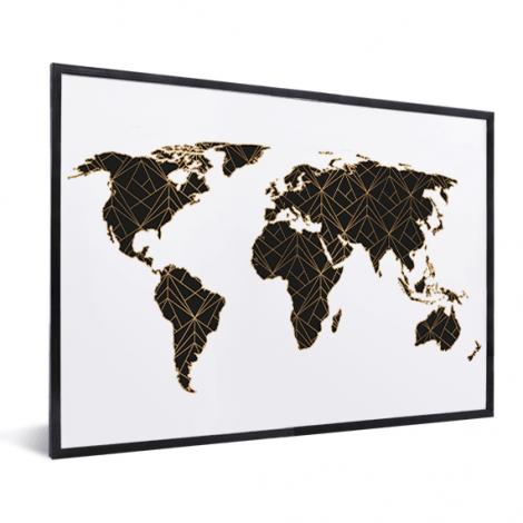 Geometrisch zwart-goud in lijst
