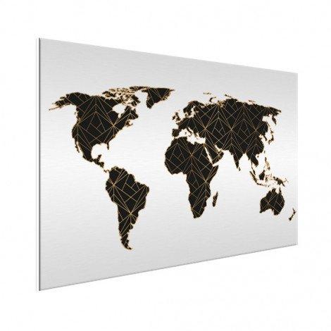 Geometrisch zwart-goud aluminium