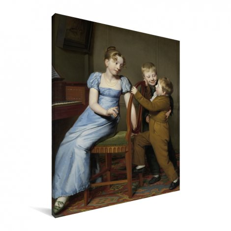 Het gestoorde pianospel - Schilderij van Willem Bartel van der Kooi Canvas