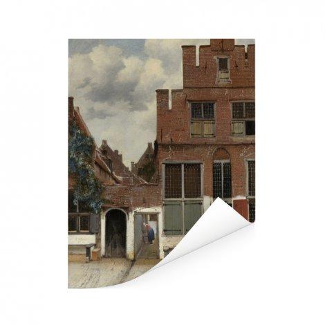 Het straatje - Schilderij van Johannes Vermeer Poster