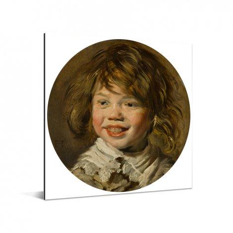 Lachende jongen - Schilderij van Frans Hals Aluminium