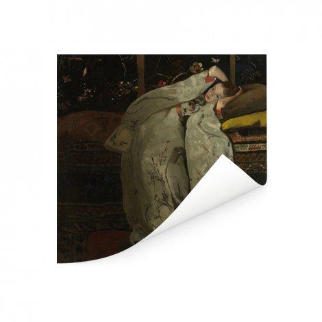 Meisje in witte kimono - Schilderij van George Hendrik Breitner Poster