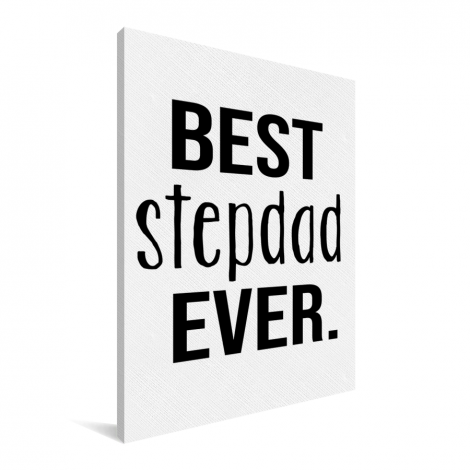 Vaderdag - Best stepdad ever Canvas