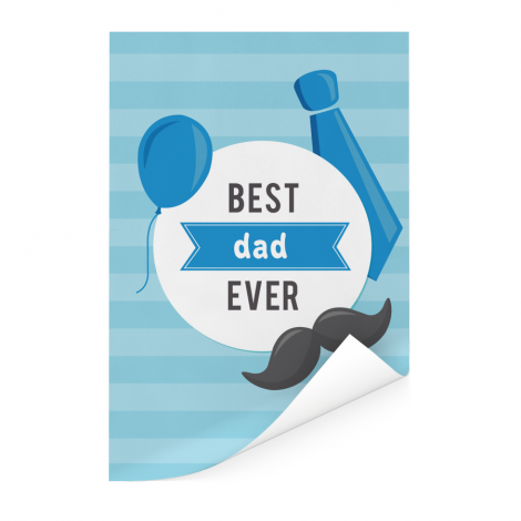 Vaderdag - Best dad ever Poster