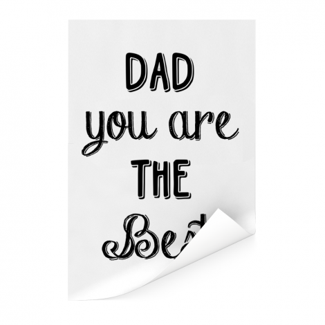 Vaderdag -Dad you are the best Poster