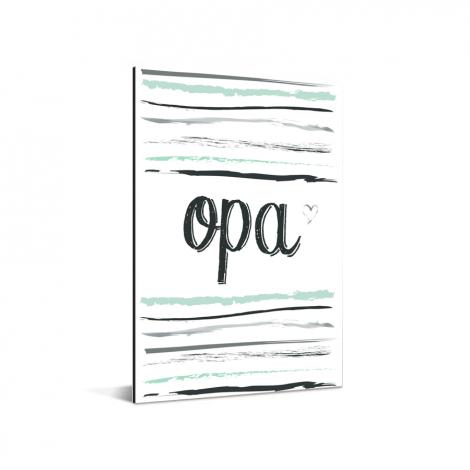 Vaderdag - tekst en strepen - Opa Aluminium
