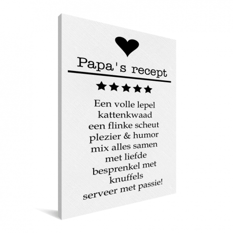 Vaderdag - Papa's recept Canvas