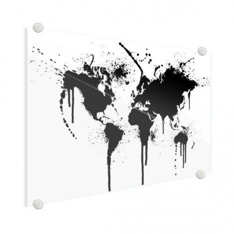 Zwarte inkt plexiglas