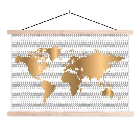 Goud golven textielposter
