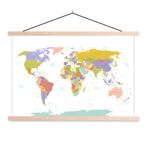 Alle landen - pastel textielposter