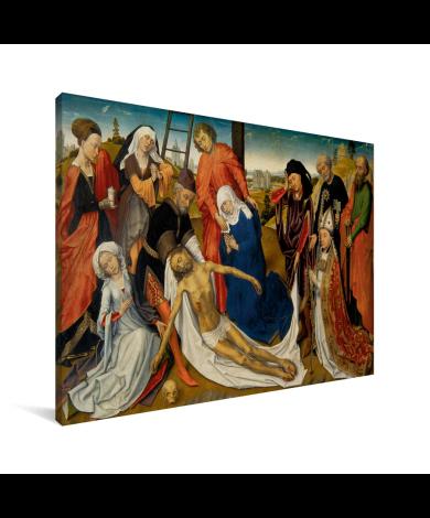 De bewening van Christus - Schilderij van Rogier van der Weyden Canvas