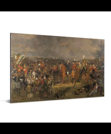 De Slag bij Waterloo - Schilderij van Jan Willem Pieneman Aluminium