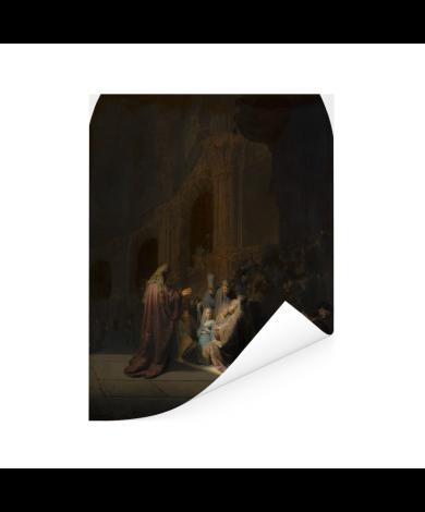 Het loflied van Simeon - Schilderij van Rembrandt van Rijn Poster