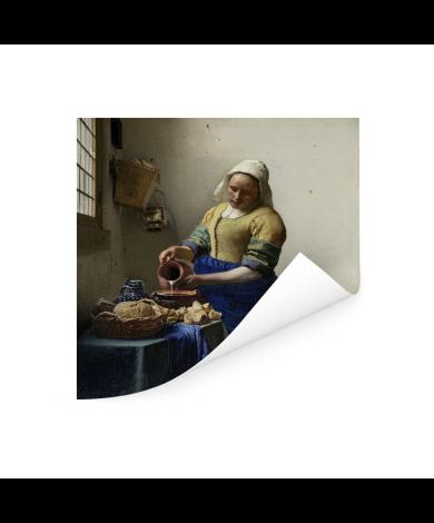 Het melkmeisje - Schilderij van Johannes Vermeer Poster