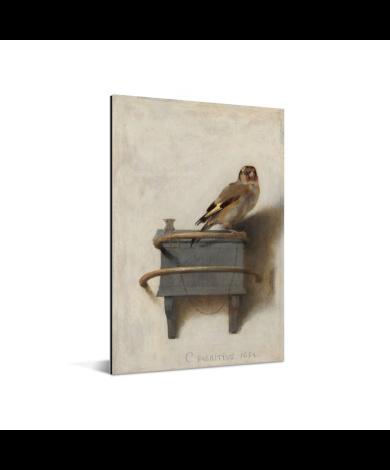 Het puttertje - Schilderij van Carel Fabritius Aluminium