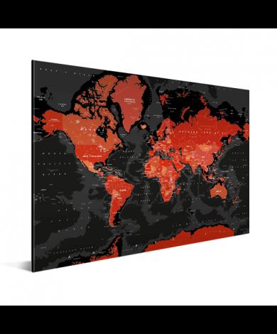 Rood - zwart aluminium