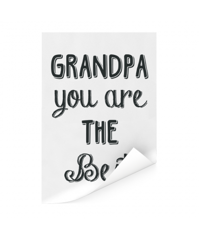 Vaderdag - Grandpa you are the best Poster