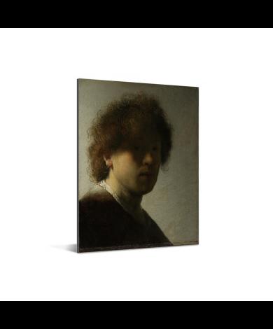 Zelfportret van Rembrandt - Schilderij van Rembrandt van Rijn Aluminium