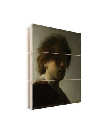 Zelfportret van Rembrandt - Schilderij van Rembrandt van Rijn Vurenhout met planken