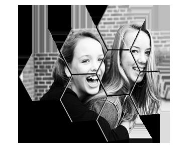 Foto op meerdere hexagons prijzen