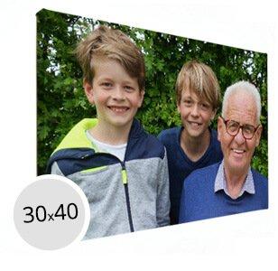 Foto op canvas opa met kleinkinderen