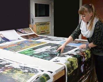 het snijden van canvas