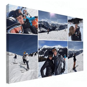 collage op canvas wintersport