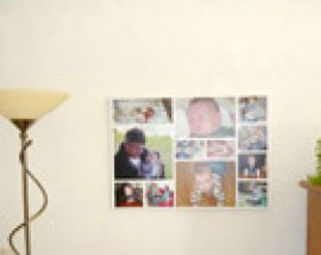 Collage perfect als foto op canvas