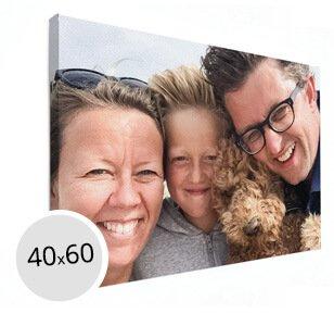 Foto op canvas gezinsfoto
