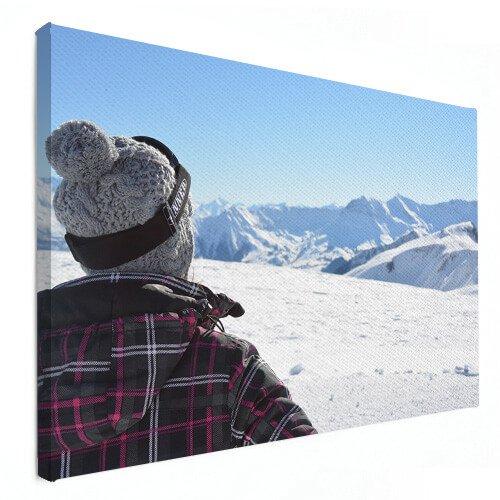 wintersportfoto op canvas