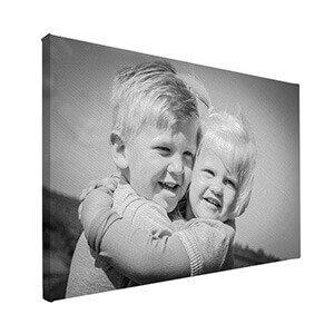 Zwart-wit foto op canvas