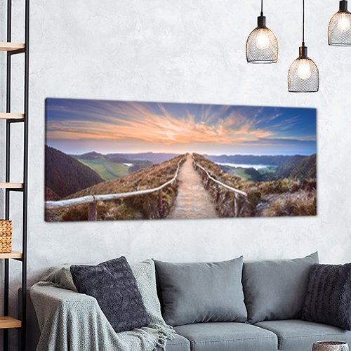 Panoramafoto op canvas