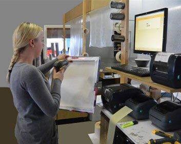 scannen barcodes canvas bestellingen
