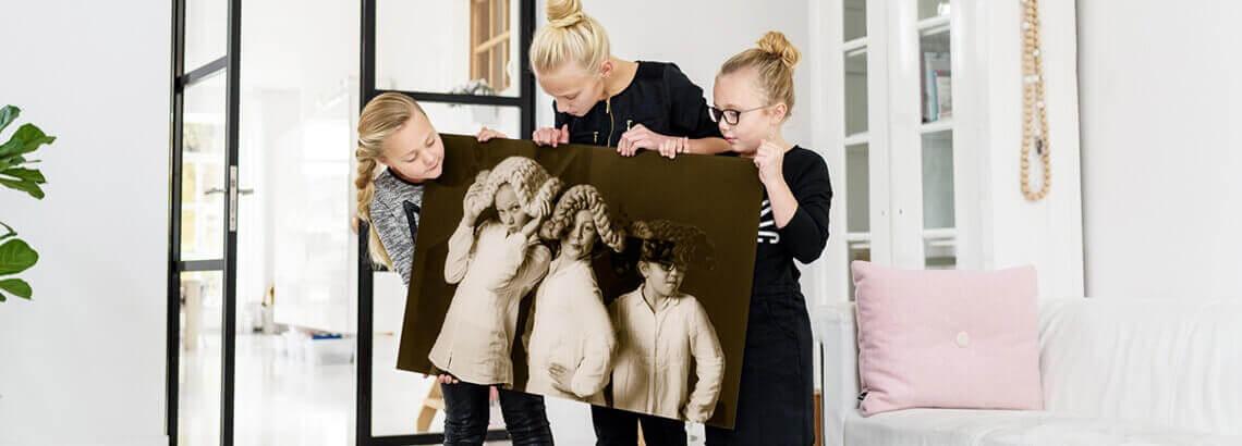 Foto in sepia op canvas afdrukken