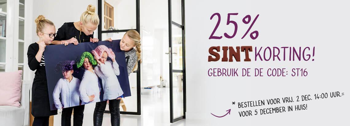 Sinterklaasaanbieding foto op canvas