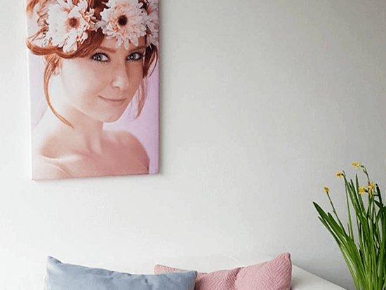 Portretfoto op canvas