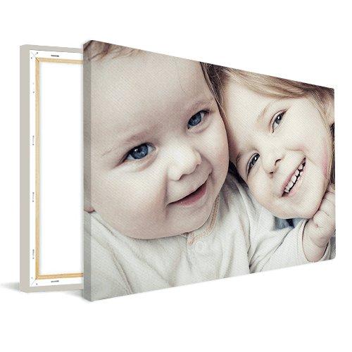 Foto op canvas met babyfoto