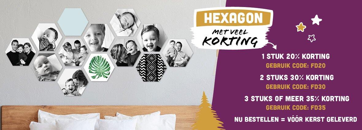 Kerstkorting Hexagon