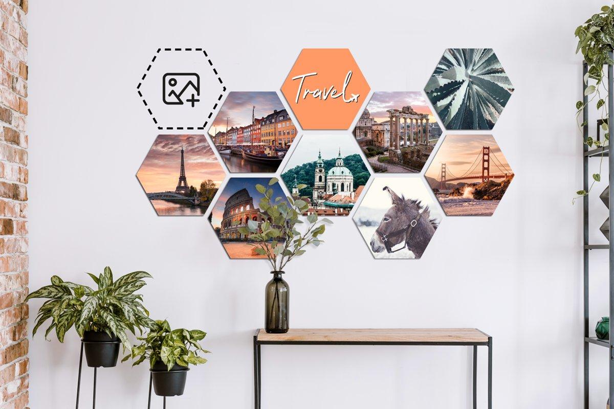 Foto op hexagon