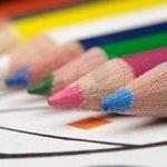 Kindertekening op canvas