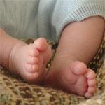 Foto op canvas super baby kado