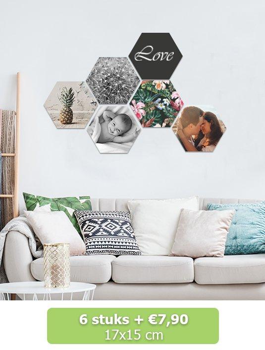 Foto op hexagon 17x15